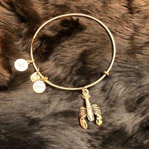 Alex and Ani Lobster Charm Bangle Bracelet